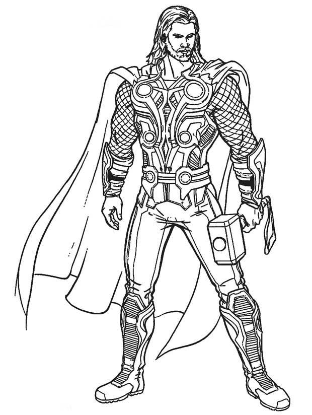Desenho De Thor Vingadores Para Colorir Tudodesenhos