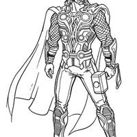 Desenhos De Thor Para Colorir Tudodesenhos