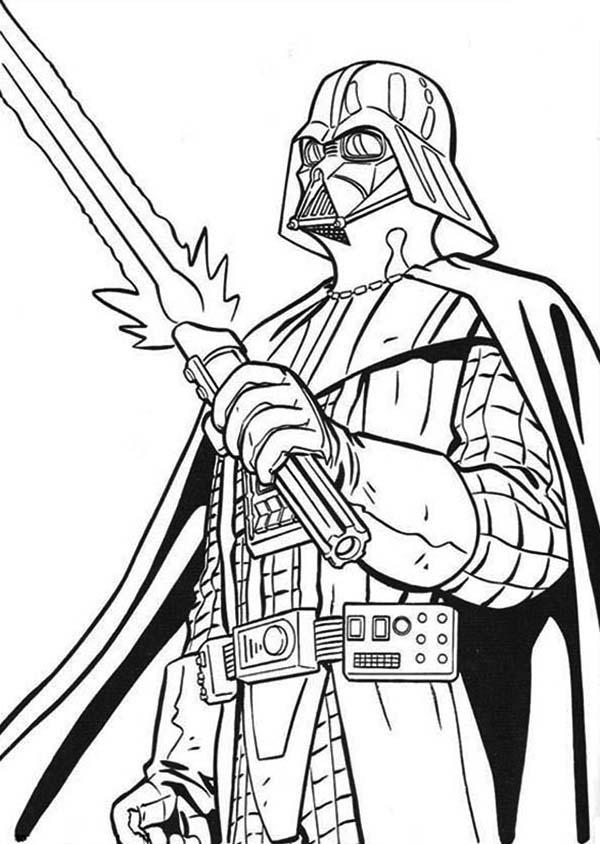 Desenho de Espada do Darth Vader para colorir - Tudodesenhos