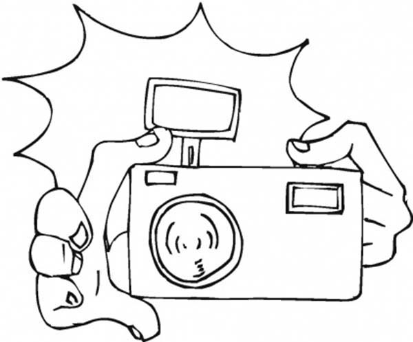 Excepcional Desenho de Câmera de fotos com flash para colorir - Tudodesenhos JJ42