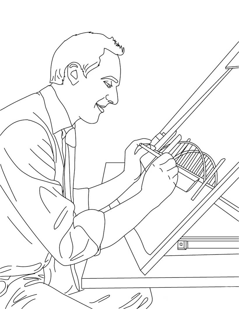 Construction equipment coloring pages
