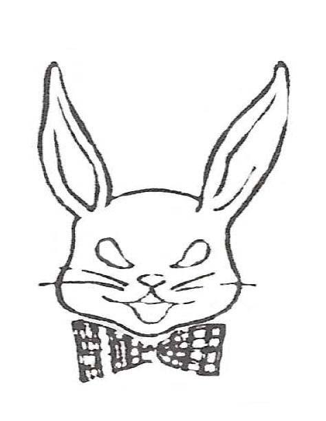 desenho de coelho com gravata para colorir tudodesenhos