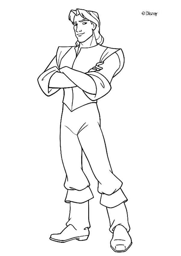 desenho de príncipe da pocahontas para colorir tudodesenhos
