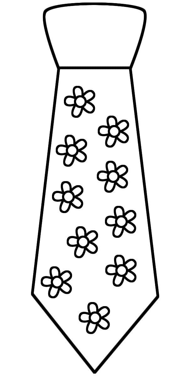 Desenho de gravata com flores para colorir tudodesenhos for Necktie coloring page