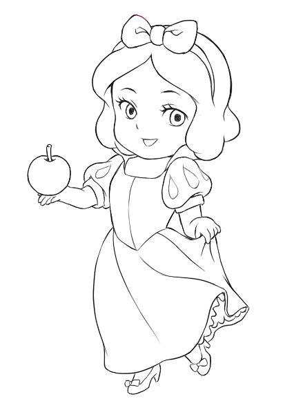 Desenho De Branca De Neve Disney Baby Para Colorir