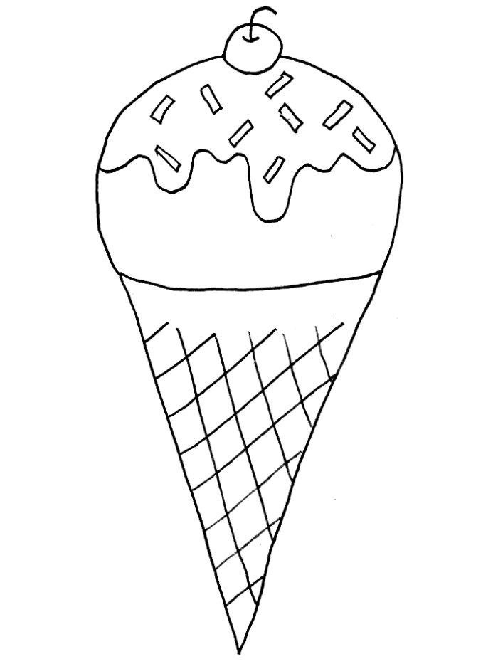 Desenho De Sorvete De Casquinha Para Colorir Tudodesenhos