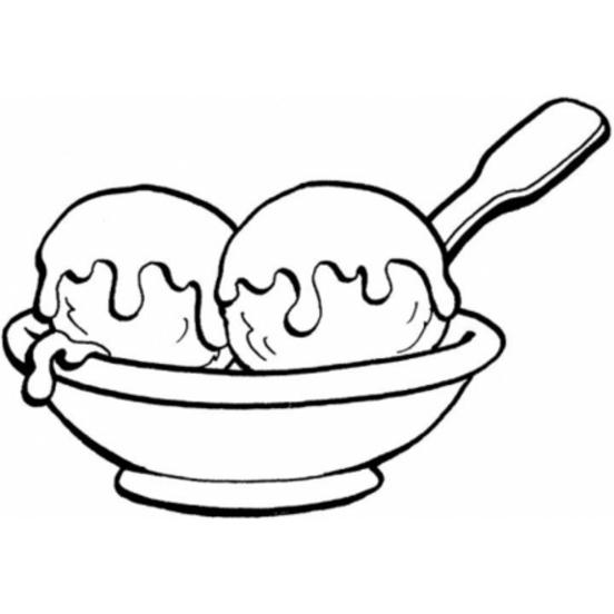 Desenho De Taça De Sorvete Para Colorir Tudodesenhos
