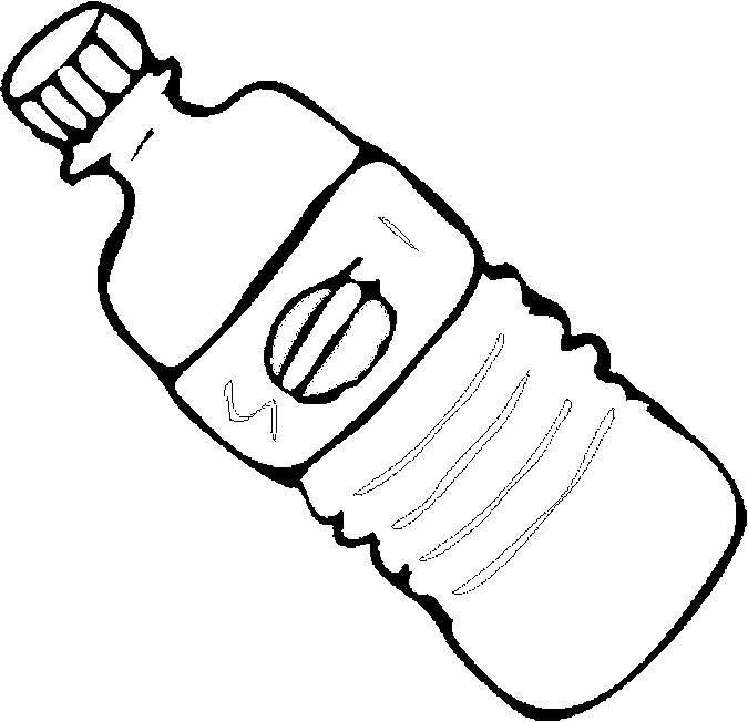 Desenho De Garrafa De Agua Para Colorir