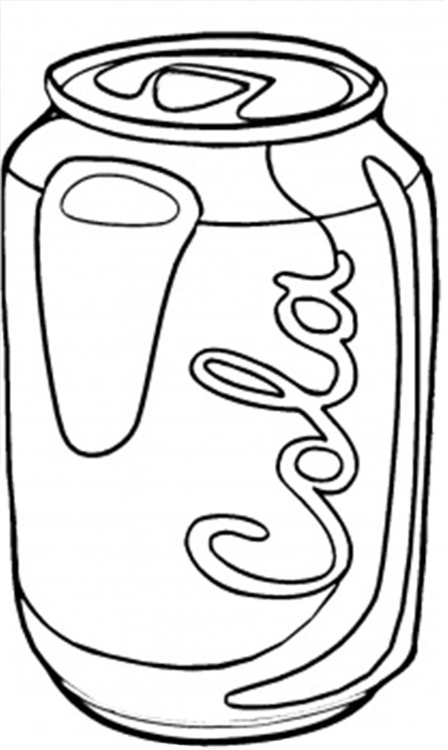 no soda coloring pages - photo#5