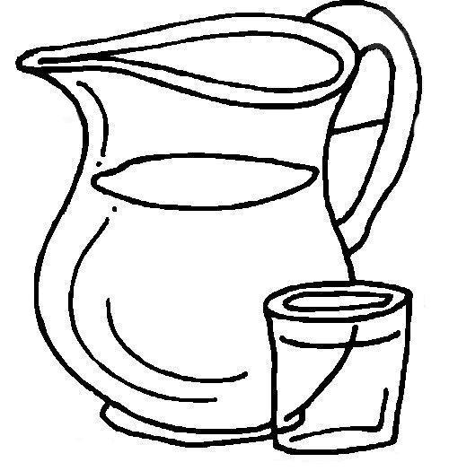 Desenho De Jarra De Agua Para Colorir Tudodesenhos