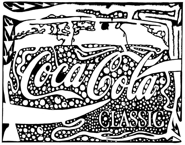 Desenho De Logo Da Coca Cola Para Colorir Tudodesenhos
