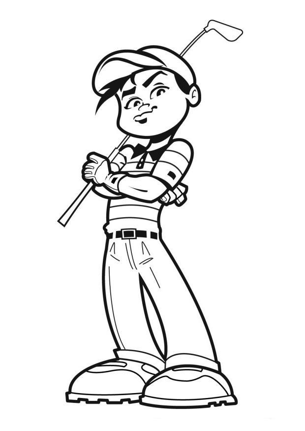 desenho de esporte golfe para colorir tudodesenhos