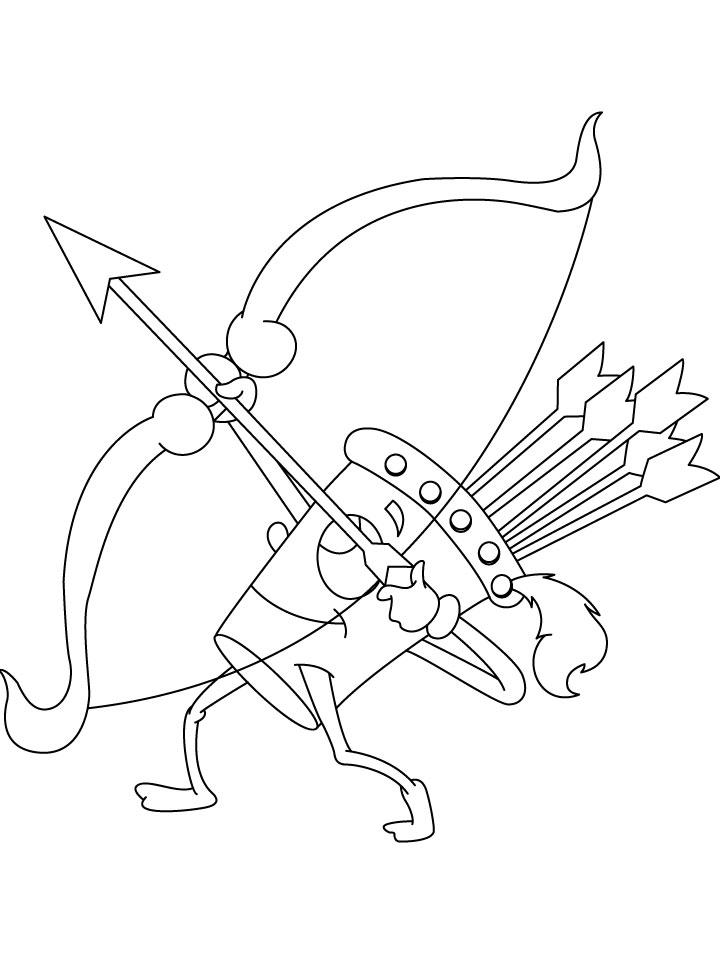 Desenho De Flecha Sendo Atirada No Arco Para Colorir Tudodesenhos