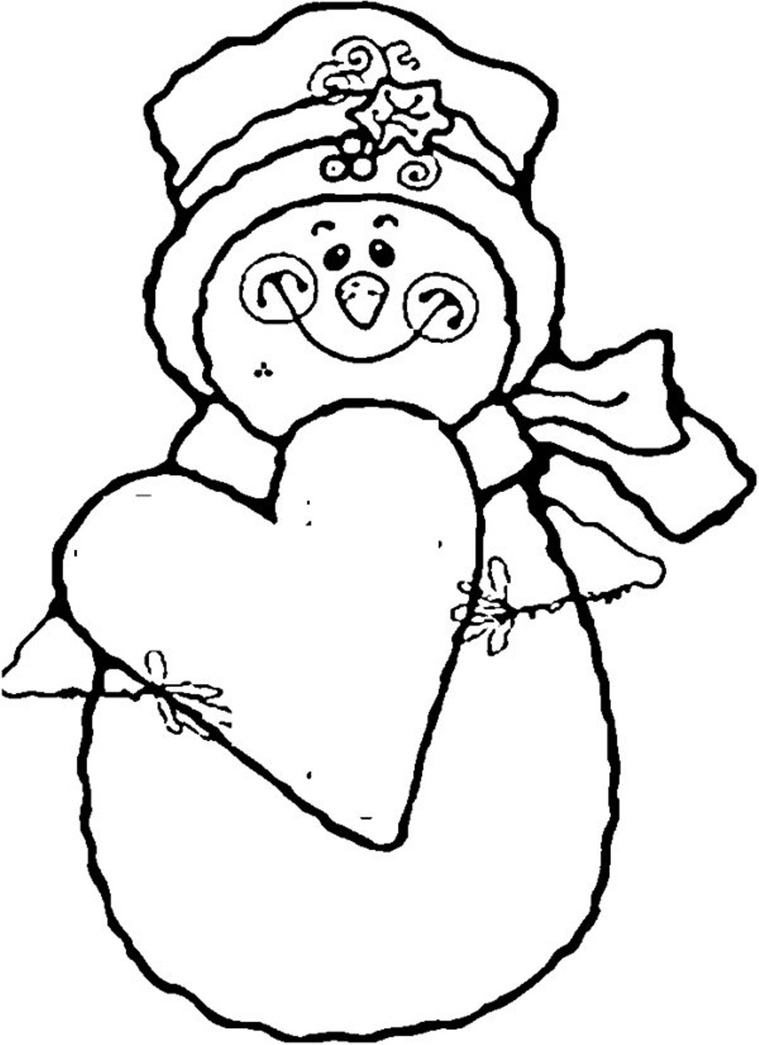 Exceptional image with snowman printable coloring page