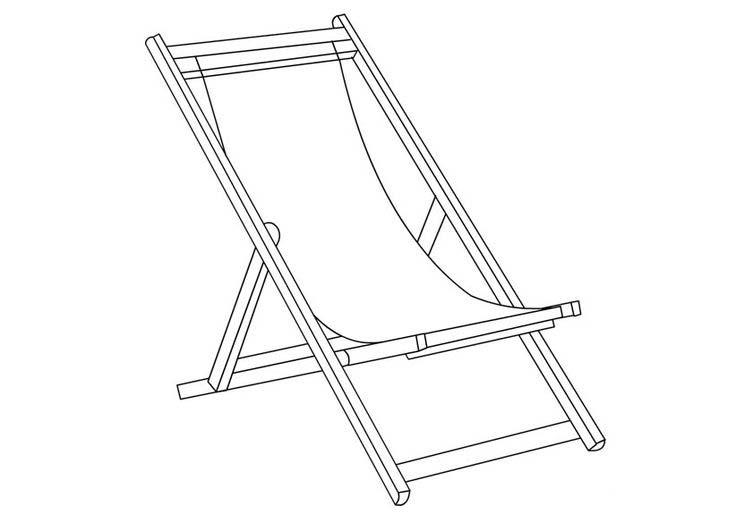 Desenho De Cadeira De Praia Para Colorir Tudodesenhos