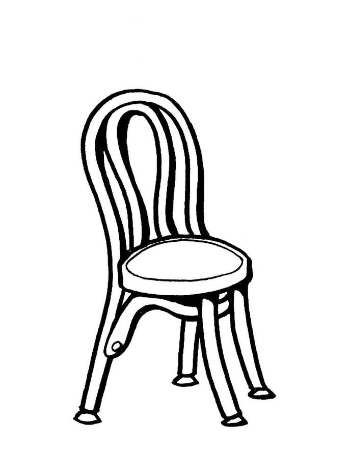 Desenho De Cadeira Pequena Para Colorir Tudodesenhos
