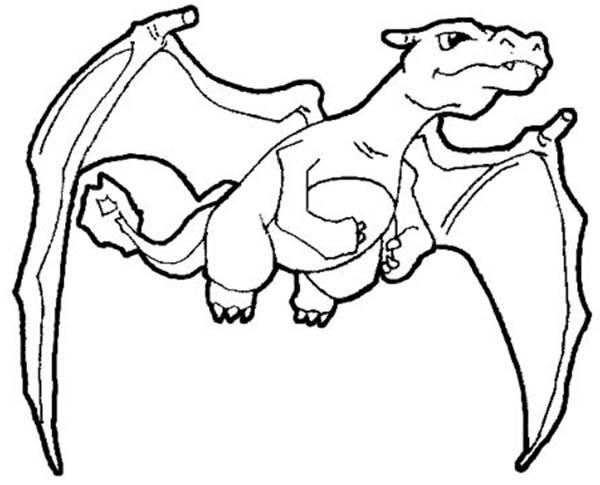 Desenho De Charizard Para Colorir Tudodesenhos