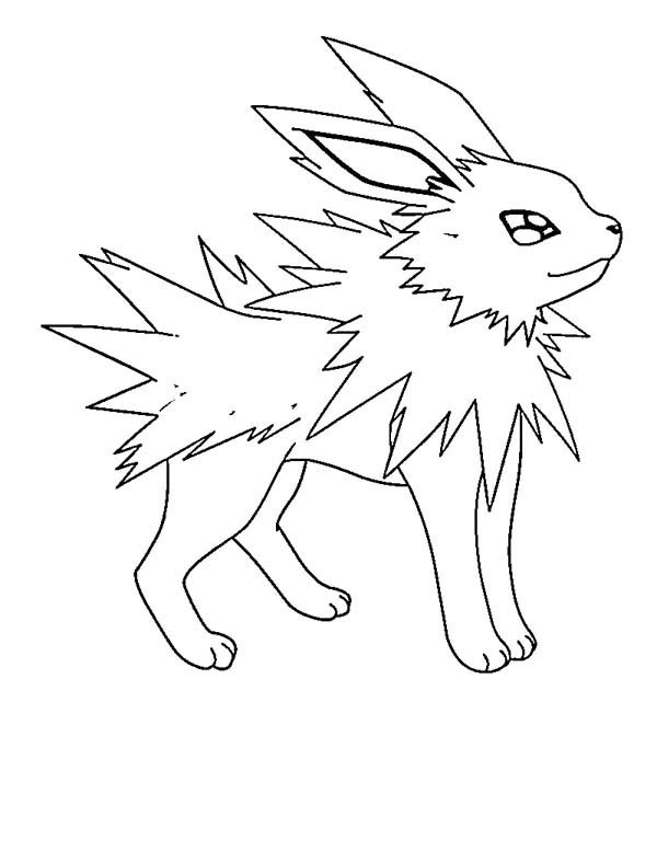 Desenho de Jolteon para colorir Tudodesenhos