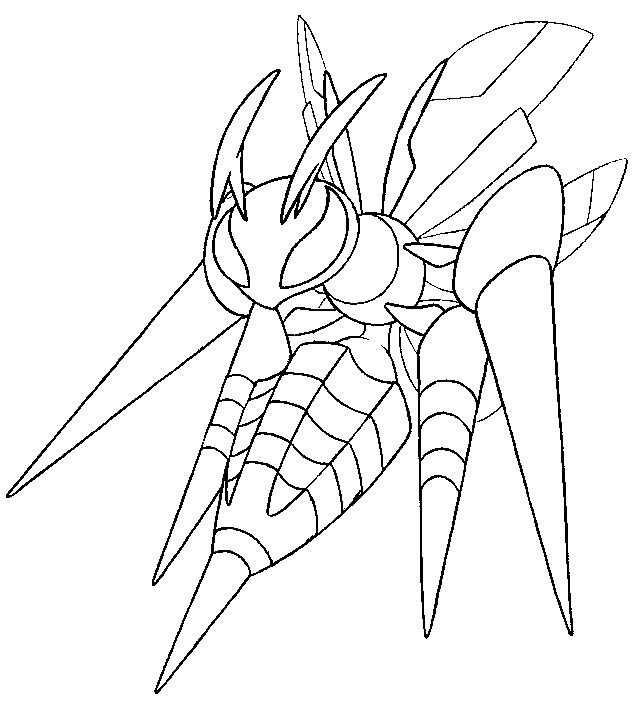 Desenho de Mega Beedrill para colorir