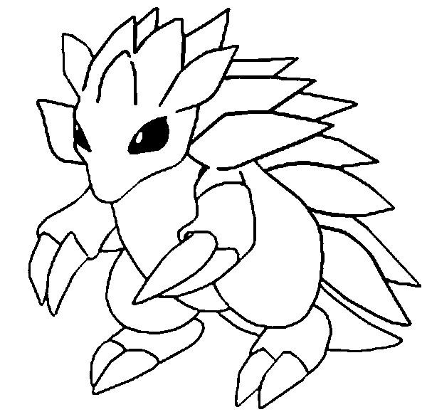 Pokemon Solgaleo Kleurplaat Desenho De Sandslash Para Colorir Tudodesenhos