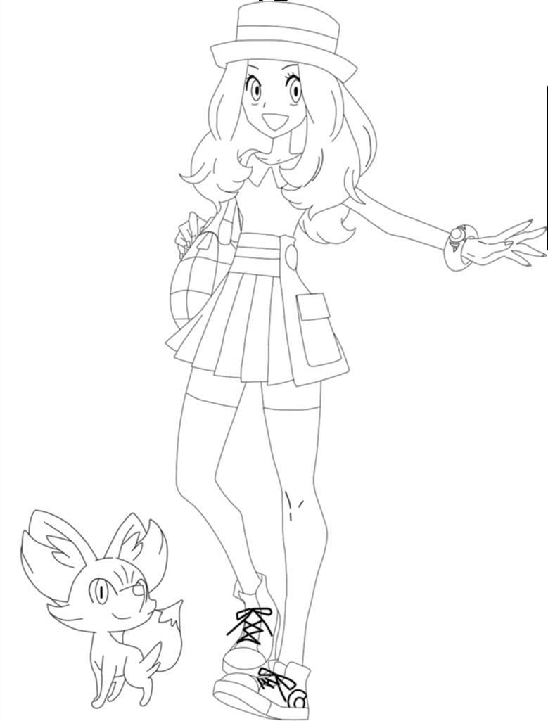 Pokemon Sun Kleurplaat Desenho De Serena Para Colorir Tudodesenhos