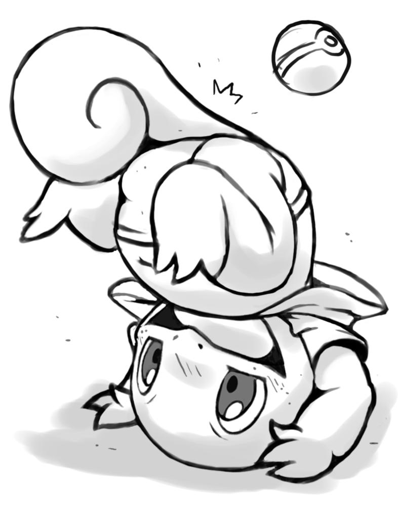 Desenho de Squirtle jogando bola para colorir - Tudodesenhos