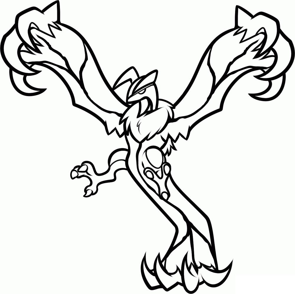 Desenho de yveltal para colorir tudodesenhos - Coloriage pokemon ex ...