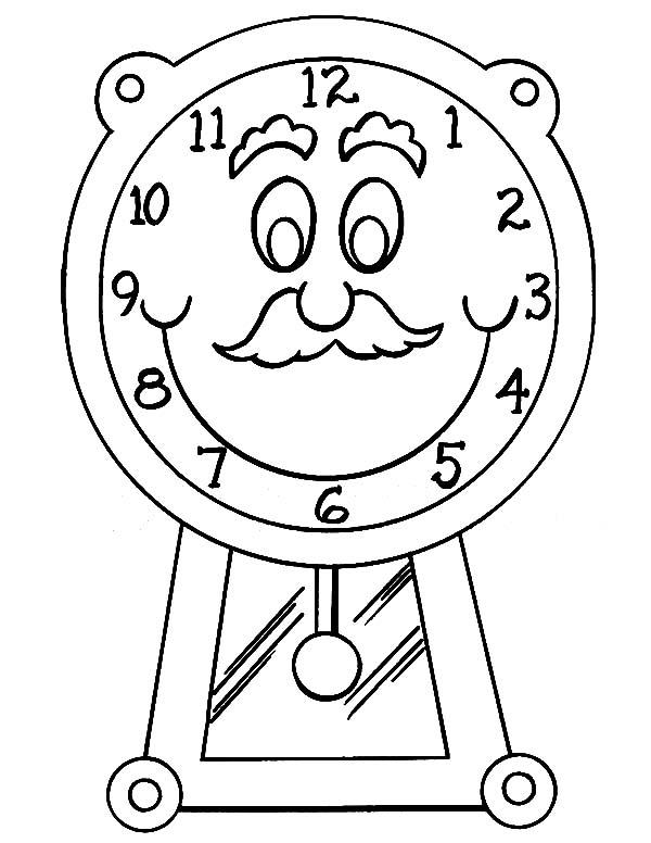 37ab6913915 Desenho de Relógio de parede para colorir. Relogio de parede