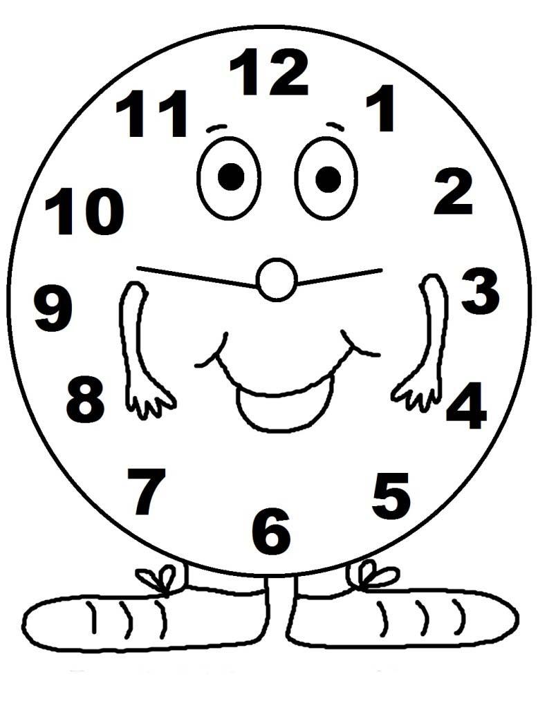 bac062d80e6 Desenho de Relógio feliz para colorir - Tudodesenhos
