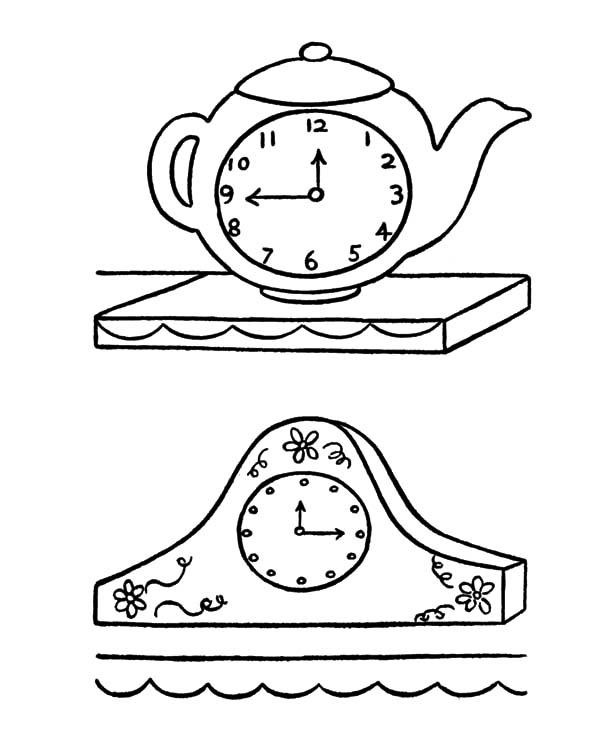 2a03c2a028b Desenho de Relógio antigos para colorir. Relogio antigos