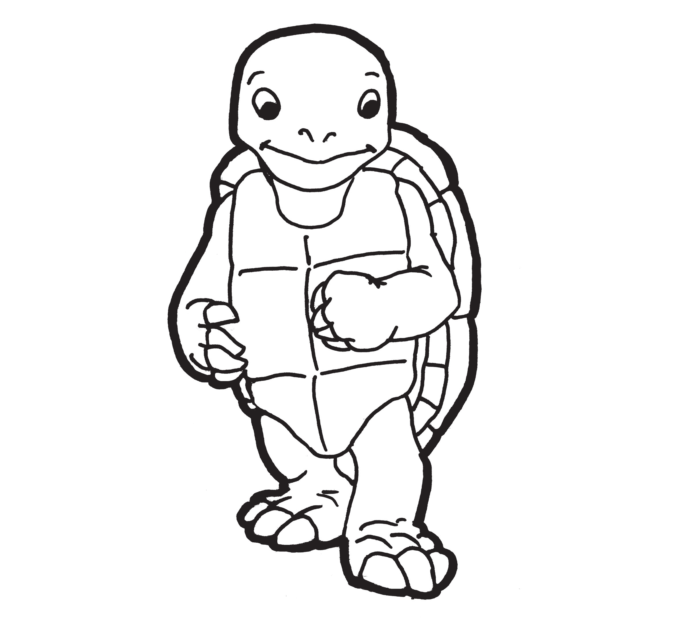 Desenho De Tartaruga De Pe Para Colorir Tudodesenhos
