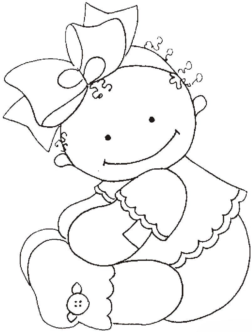 Desenho De Bebê De Pelúcia Para Colorir Tudodesenhos