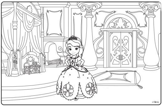 desenho de palácio da princesa sofia para colorir tudodesenhos