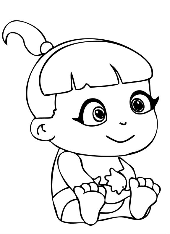 desenho de bebê menina para colorir tudodesenhos