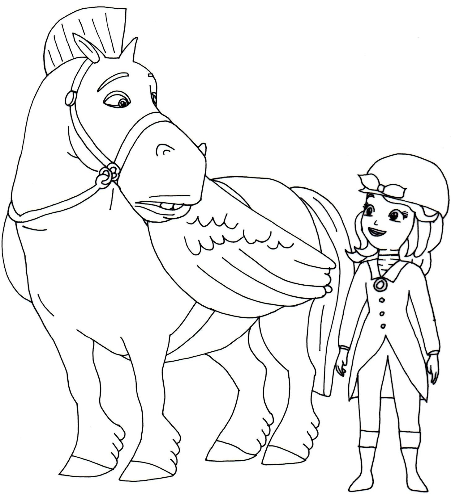 Desenho De Major E Princesa Sofia Para Colorir Tudodesenhos
