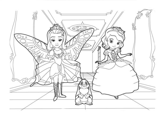 Desenho De Princesinha Sofia E Amber No Halloween Para Colorir