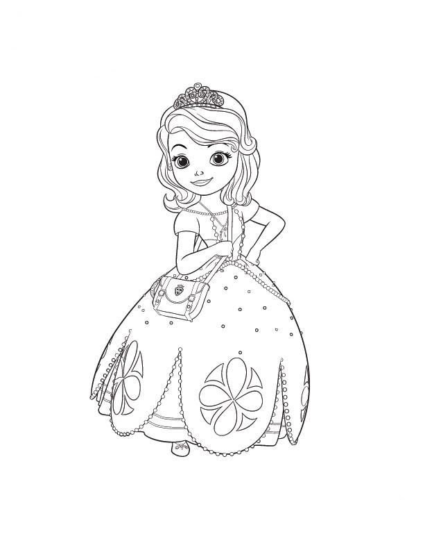 Desenho De Princesinha Sofia Para Colorir Tudodesenhos