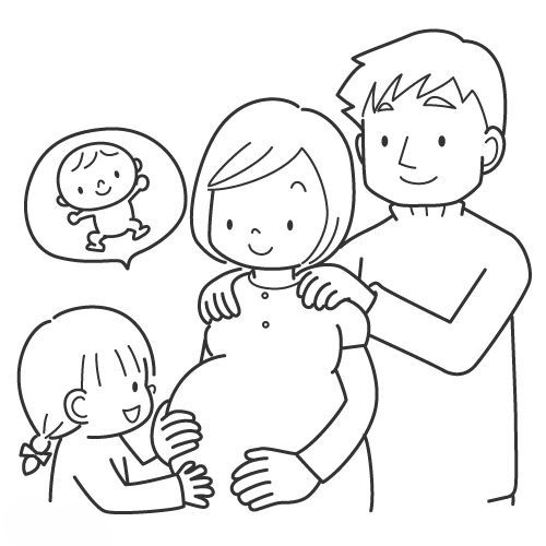 Desenho De Família Esperando Bebê Para Colorir Tudodesenhos