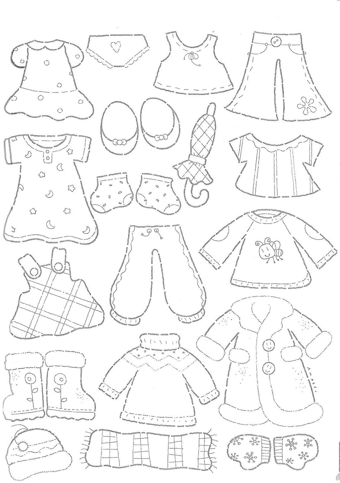 desenho de roupas de bebê para colorir tudodesenhos