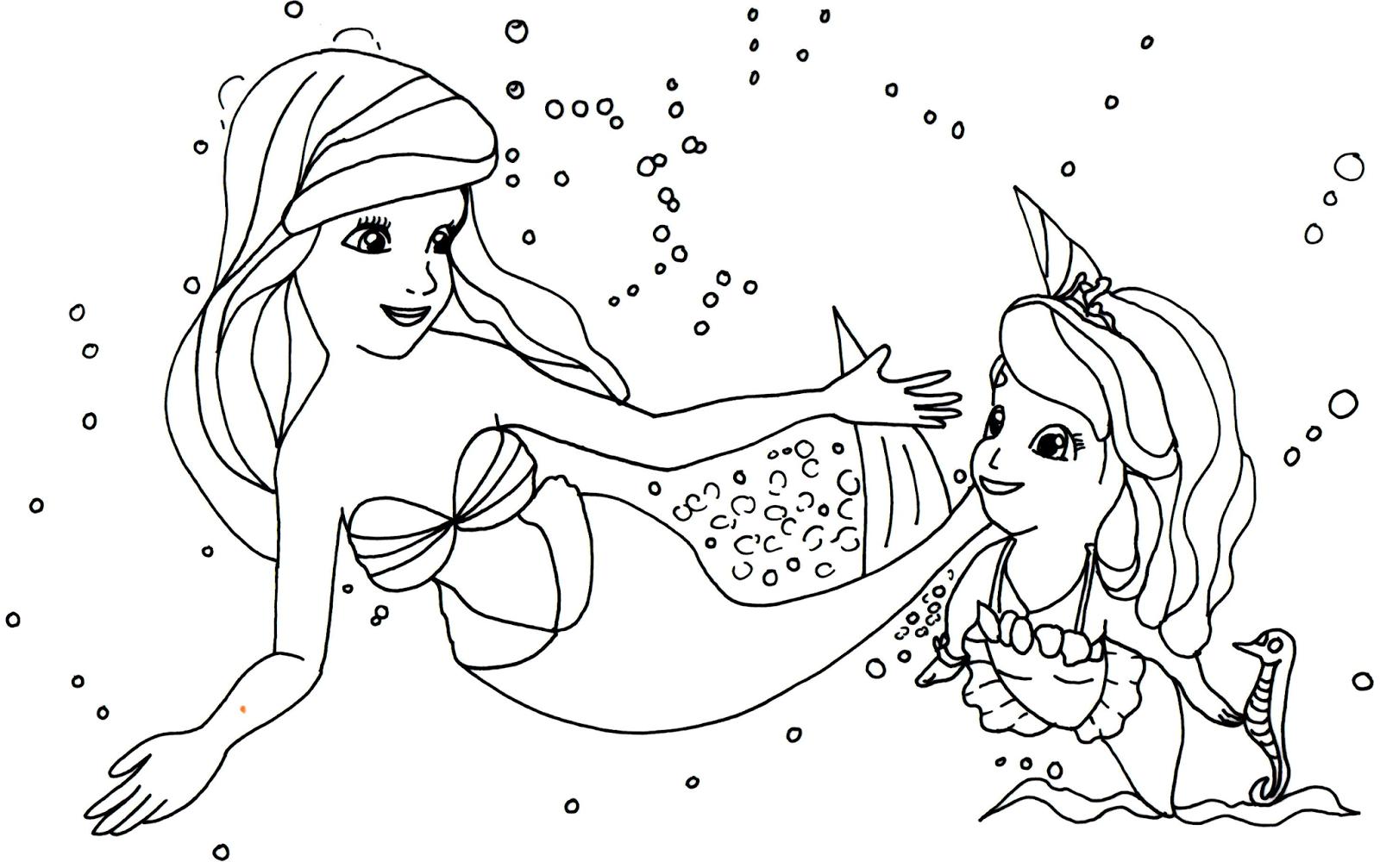 Desenho De Princesa Sereia Sofia The First Para Colorir