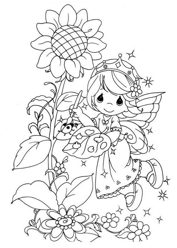 precious moments coloring pages autumn - photo#33