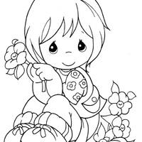 Momentos Preciosos Colhendo Flores