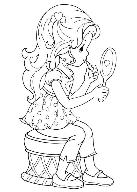 Desenho De Momentos Preciosos Maquiagem Para Colorir Tudodesenhos