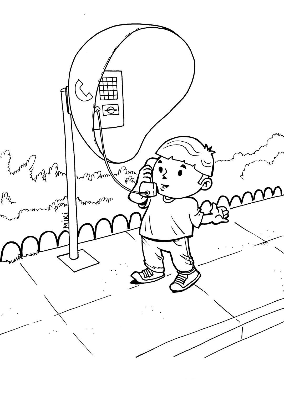 Desenho De Menino Falando Pelo Orelh 227 O Para Colorir