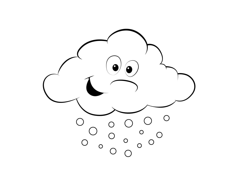 Desenho De Nuvem Com Chuva Para Imprimir