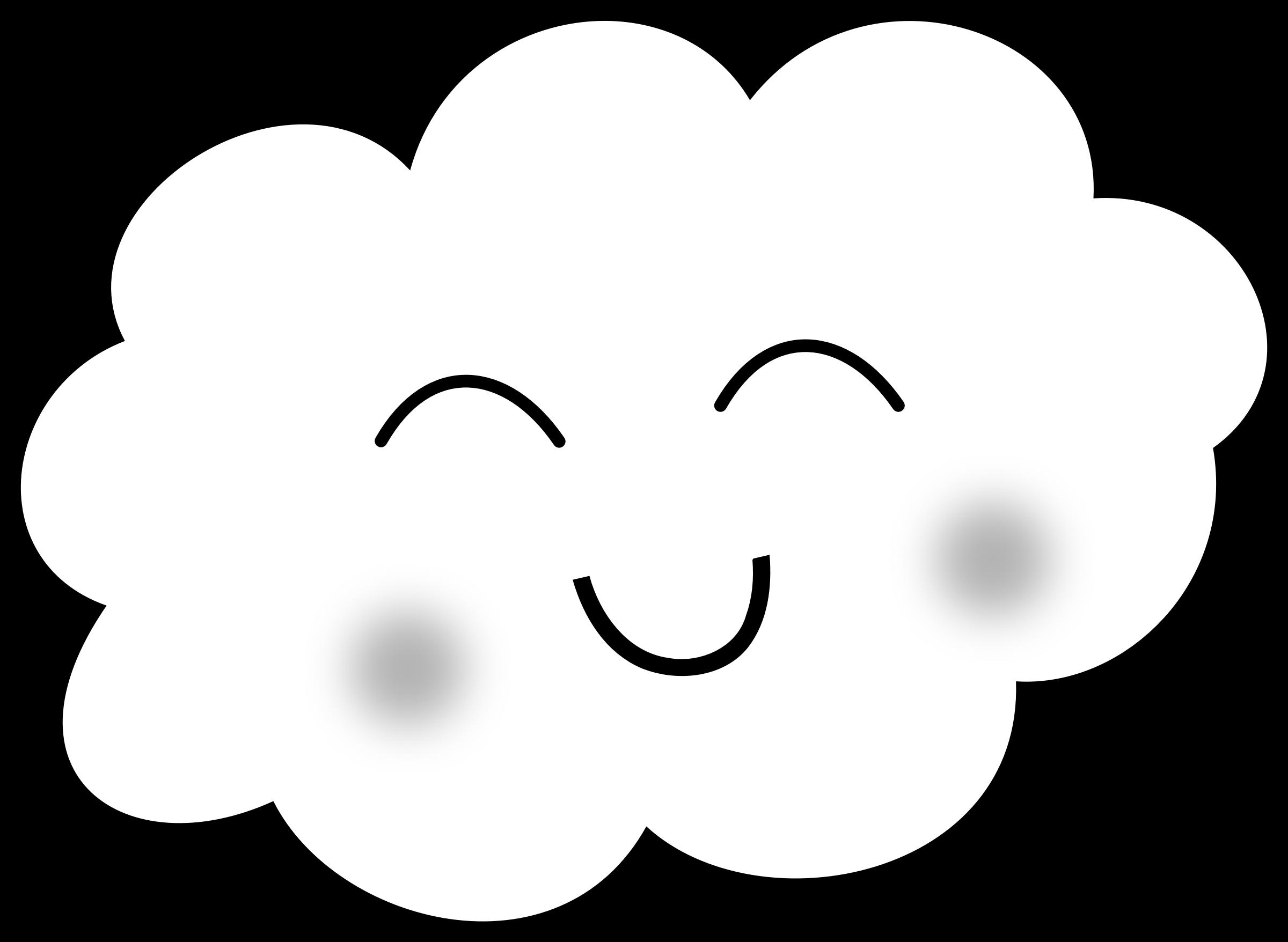 Desenho De Nuvem Feliz Para Colorir Tudodesenhos