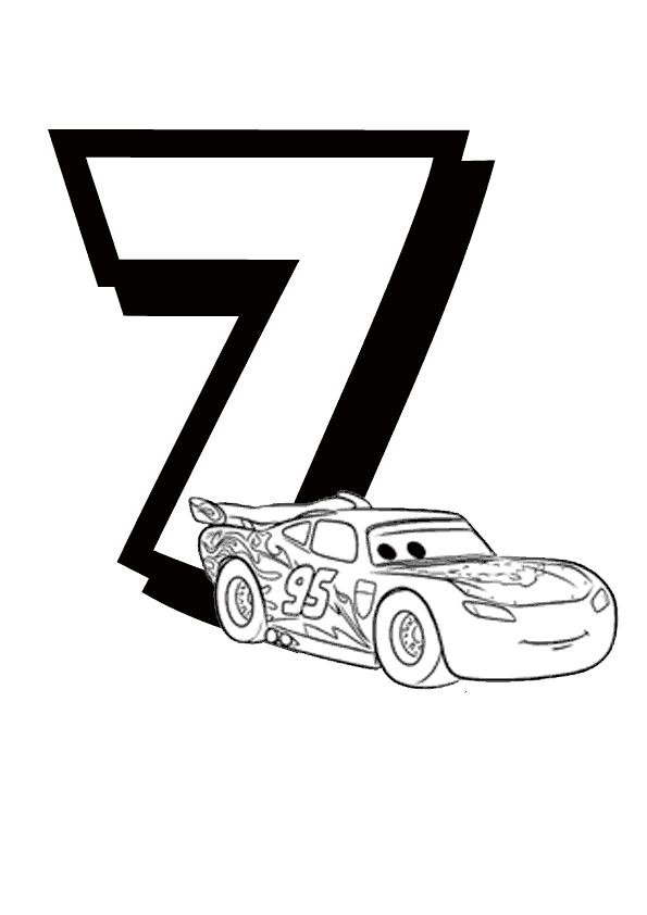 Desenho De Numero 7 Disney Para Colorir Tudodesenhos