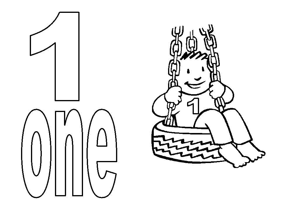 Desenho De Número 1 Em Inglês Para Colorir