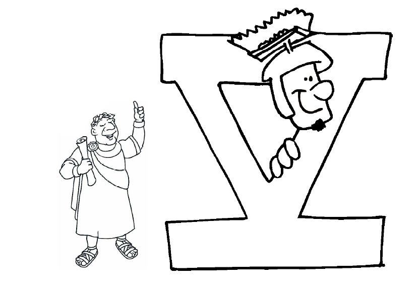 Desenho De Número 5 Romano Para Colorir