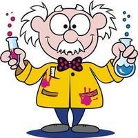 desenho de cientista matando bactéria no microscópio para colorir